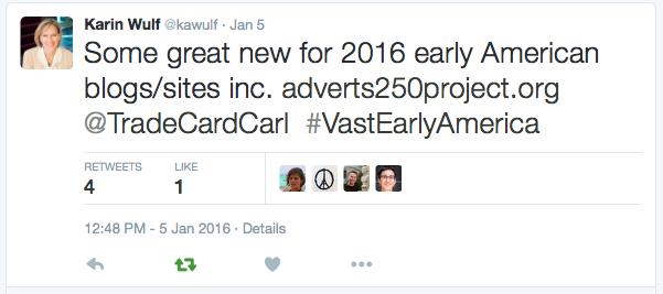 Karin Wulf Tweet 1:5:2016