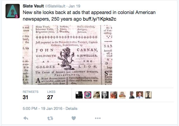 Slate Vault Tweet 1:19:2016