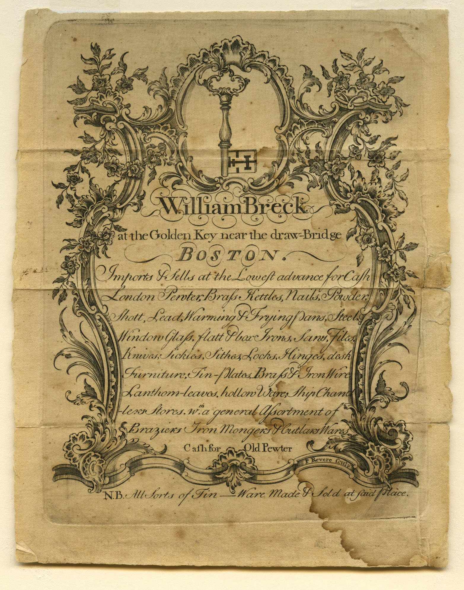 Mar 25 - William Breck Trade Card