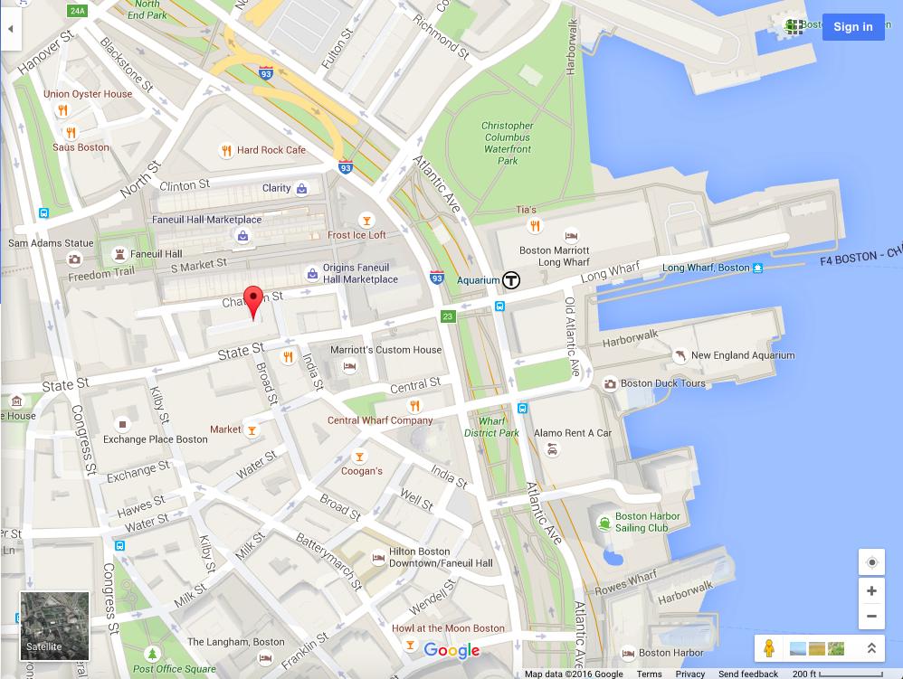Apr 23 - Fanueil Hall on Map