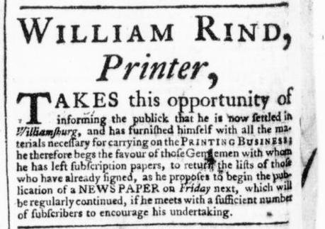 May 11 - 5:9:1766 Virginia Gazette