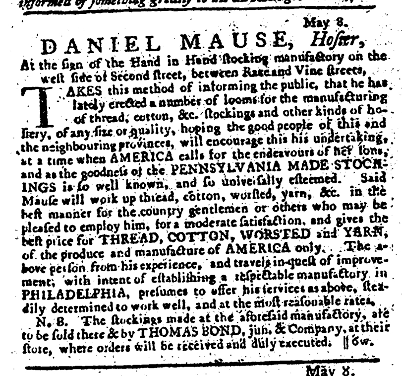 May 17 - 5:17:1766 Pennsylvania Journal
