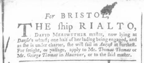 Jun 21 - 6:20:1766 Virginia Gazette