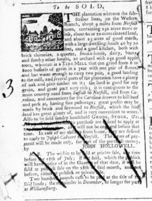 Jul 19 - 7:18:1766 Virginia Gazette