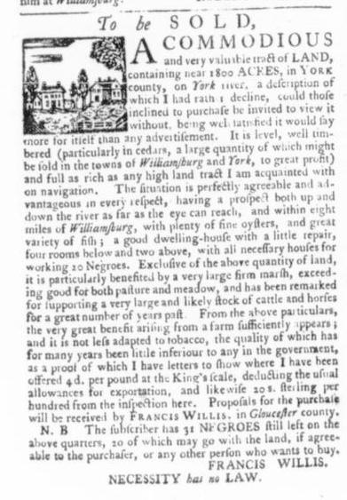Apr 2 - Virginia Gazette Slavery 2