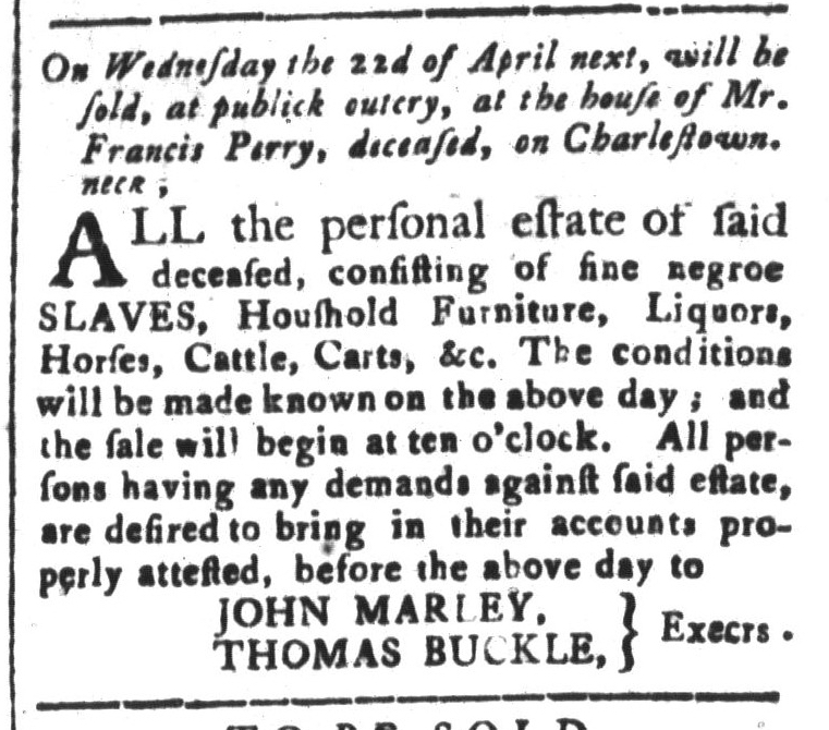 Apr 3 - South-Carolina and American General Gazette Slavery 5