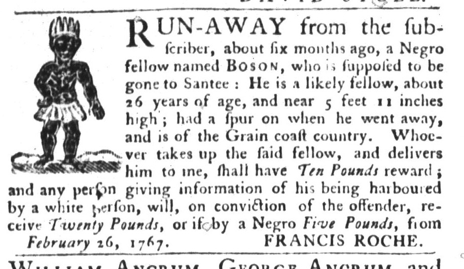 Apr 7 - South Carolina Gazette and Country Journal Slavery 9