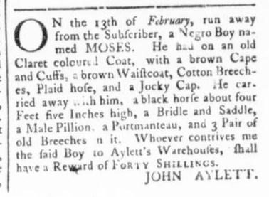 Mar 12 - Virginia Gazette (Rind) Slavery 2