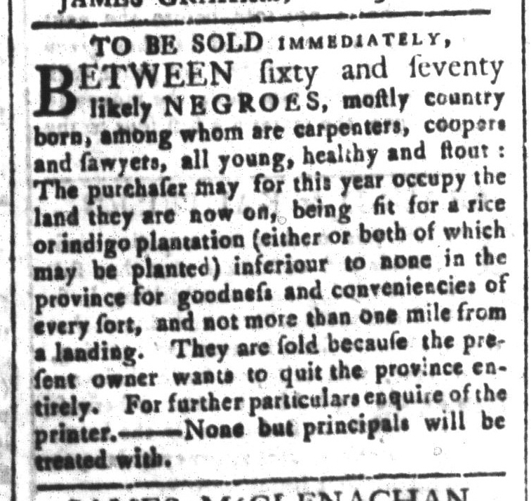 Mar 13 - South-Carolina and American General Gazette Slavery 7