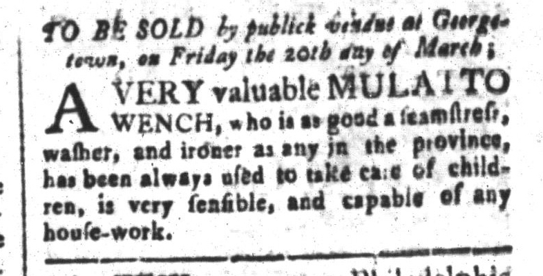 Mar 13 - South-Carolina and American General Gazette Slavery 8