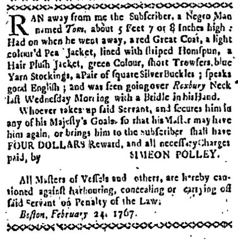 Mar 16 - Boston-Gazette Supplement Slavery 2