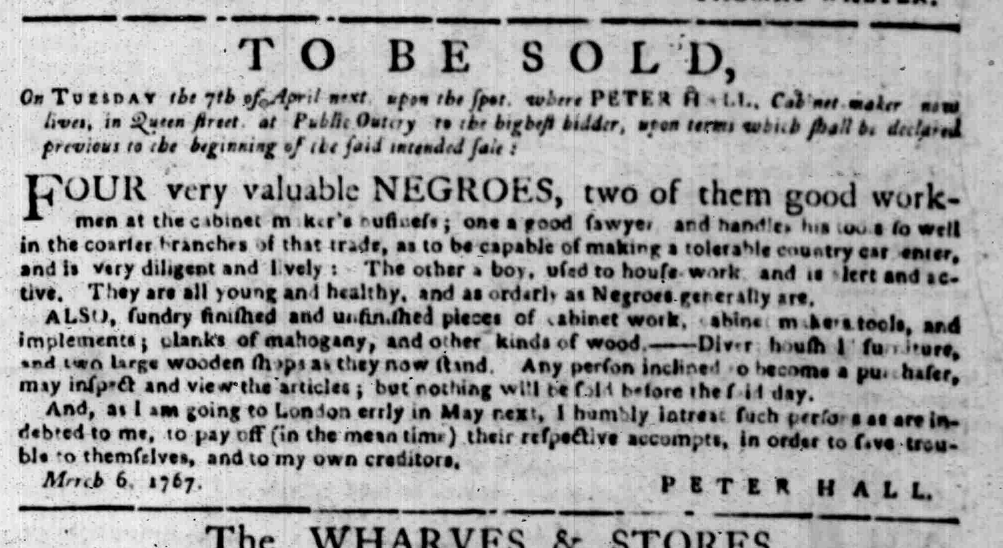 Mar 16 - South Carolina Gazette Supplement Slavery 2