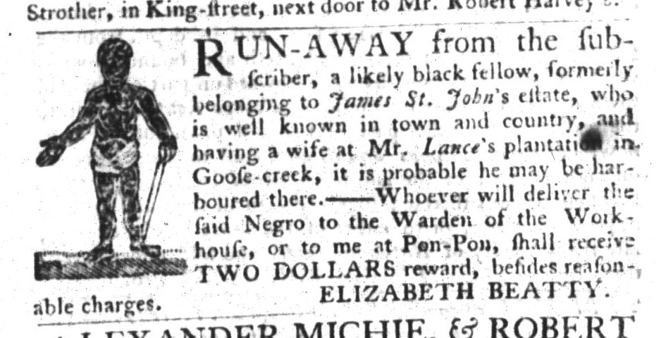 Mar 17 - South-Carolina Gazette and Country Journal Slavery 14