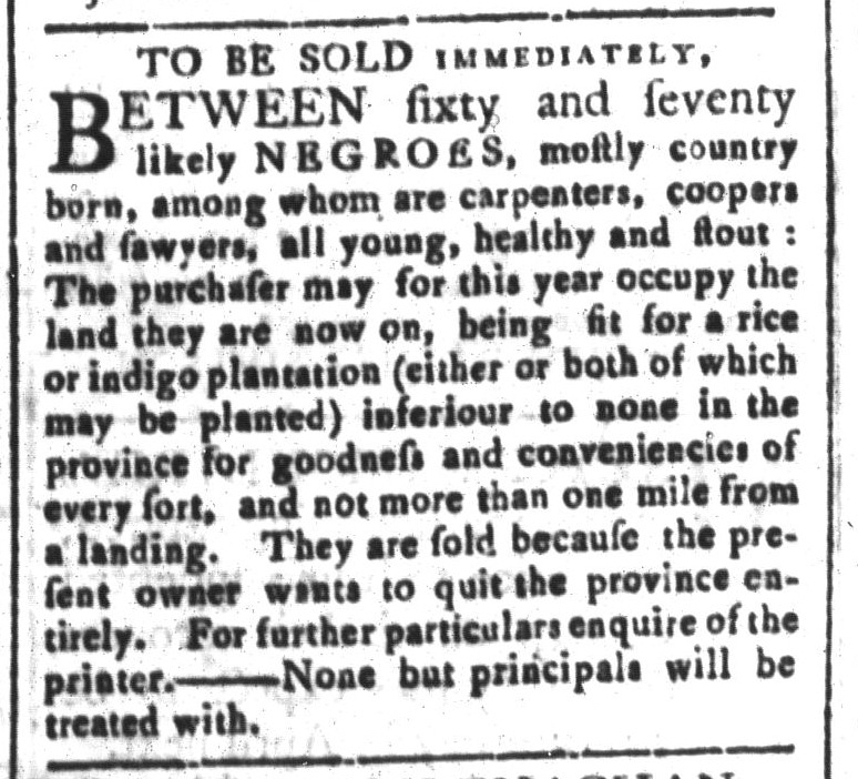 Mar 20 - South-Carolina and American General Gazette Slavery 8
