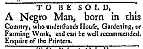 Mar 23 - Boston Evening-Post Slavery 1