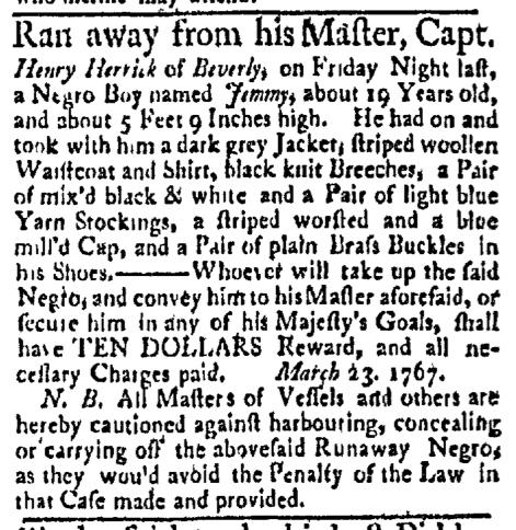 Mar 23 - Boston Evening-Post Slavery 2