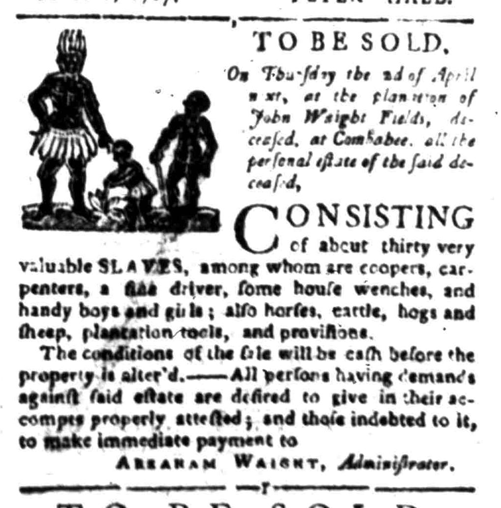 Mar 23 - South Carolina Gazette Slavery 10