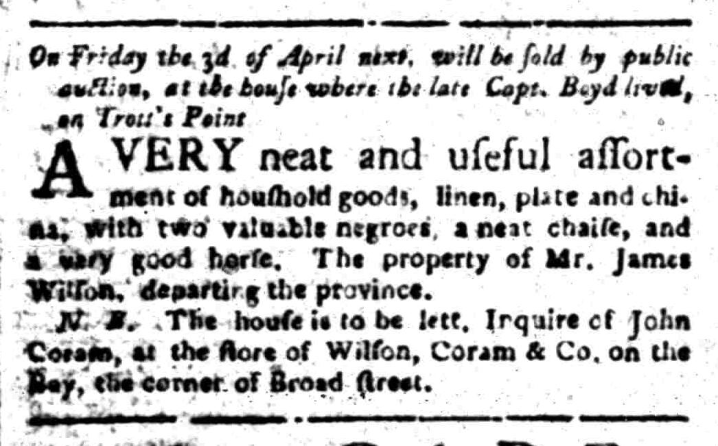Mar 23 - South Carolina Gazette Slavery 2