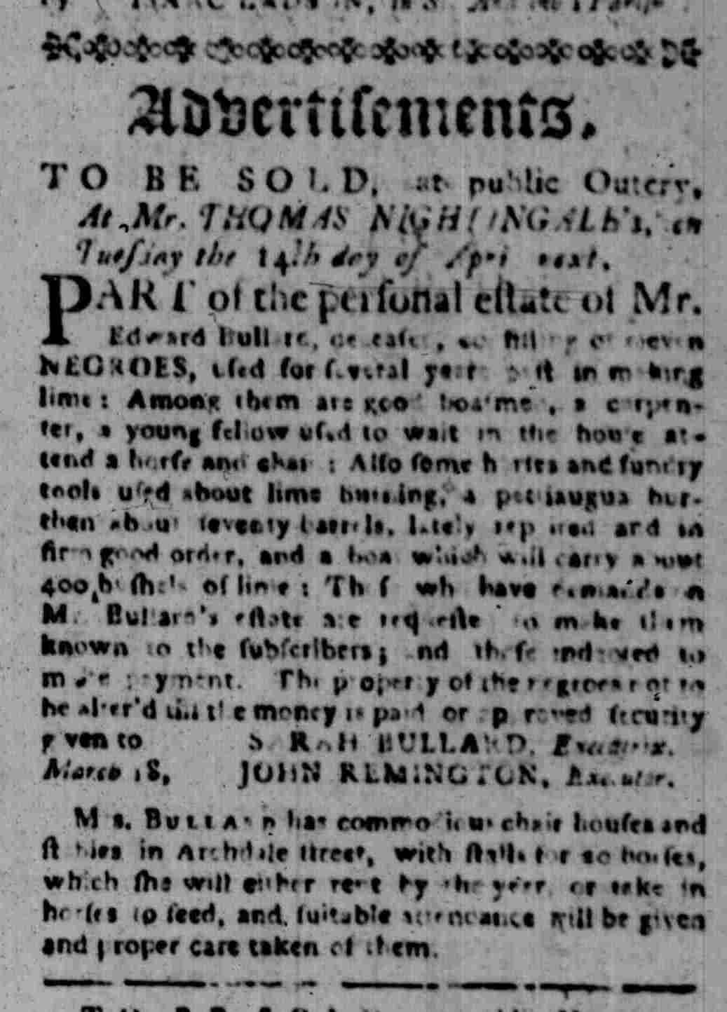 Mar 23 - South Carolina Gazette Slavery 5