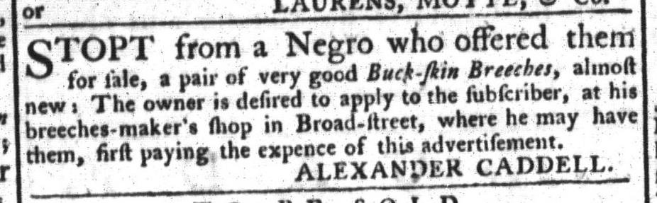 Mar 24 - South-Carolina Gazette and Country Journal Slavery 10