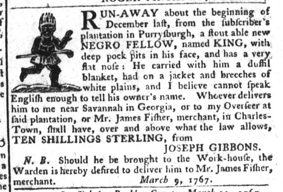 Mar 24 - South-Carolina Gazette and Country Journal Slavery 12