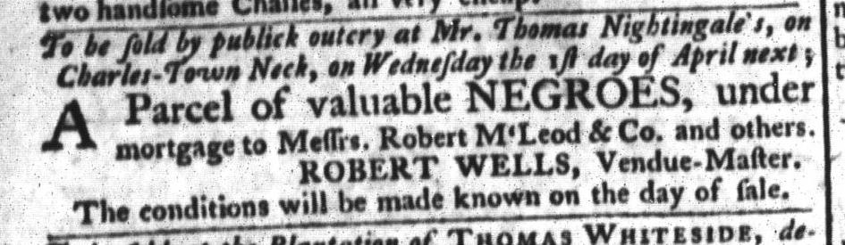 Mar 24 - South-Carolina Gazette and Country Journal Slavery 6