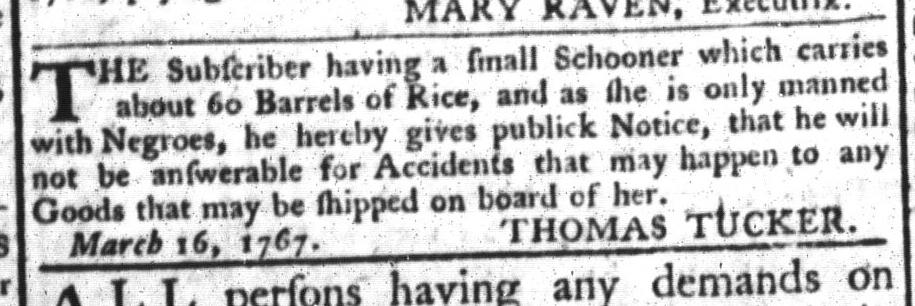 Mar 24 - South-Carolina Gazette and Country Journal Slavery 9