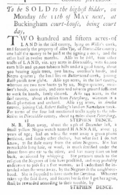 Mar 26 - Virginia Gazette Slavery 2