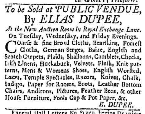 Mar 30 - 3:30:1767 Boston Evening-Post