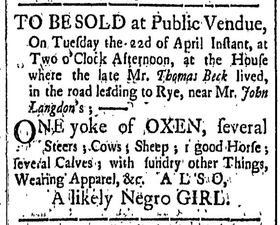Apr 10 - New-Hampshire Gazette Slavery 1