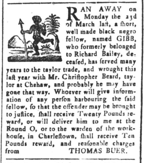 Apr 10 - South-Carolina and American General Gazette Slavery 3