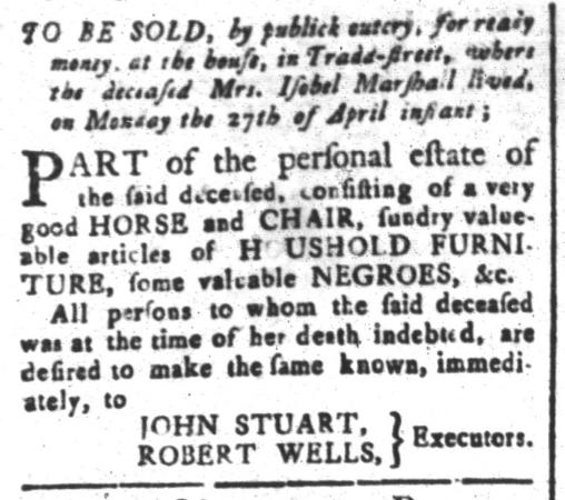 Apr 10 - South-Carolina and American General Gazette Slavery 6