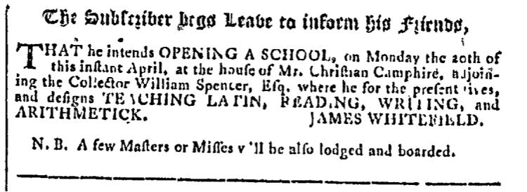 Apr 15 - 4:15:1767 Georgia Gazette