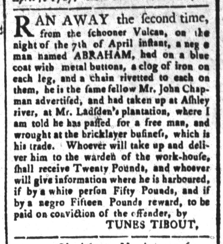 Apr 17 - South-Carolina and American General Gazette Slavery 6