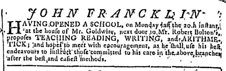 Apr 22 - 4:22:1767 Georgia Gazette