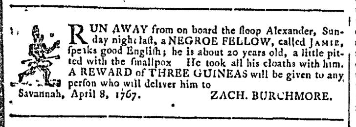 Apr 22 - Georgia Gazette Slavery 2