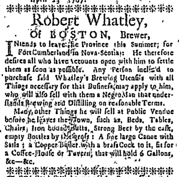 Apr 23 - Massachusetts Gazette Slavery 1