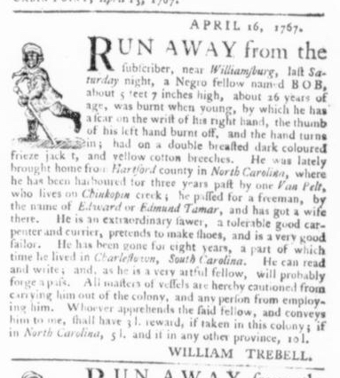 Apr 23 - Virginia Gazette Slavery 4