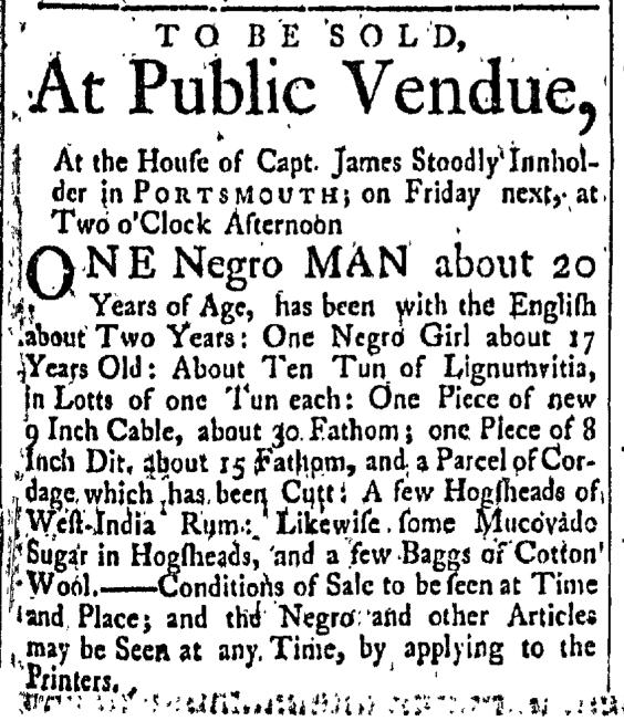 Apr 24 - New-Hampshire Gazette Slavery 1
