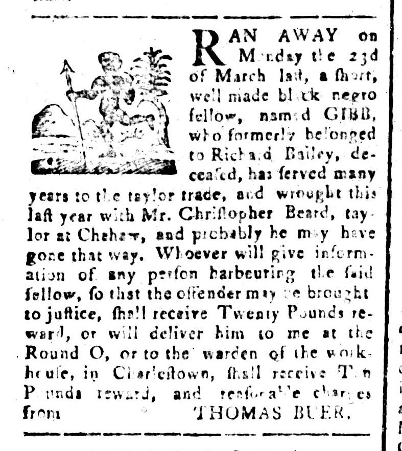 Apr 24 - South-Carolina and American General Gazette Slavery 6