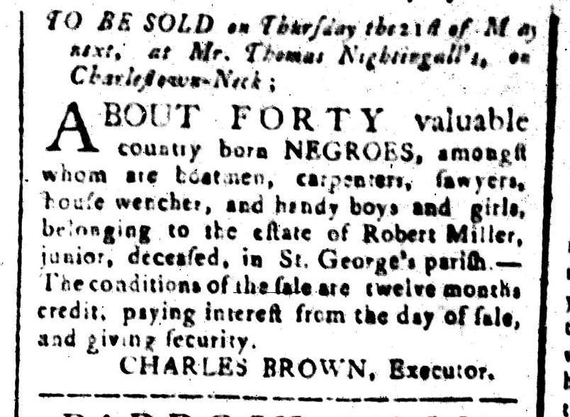 Apr 24 - South-Carolina and American General Gazette Slavery 7