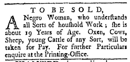 Apr 25 - Providence Gazette Slavery 1