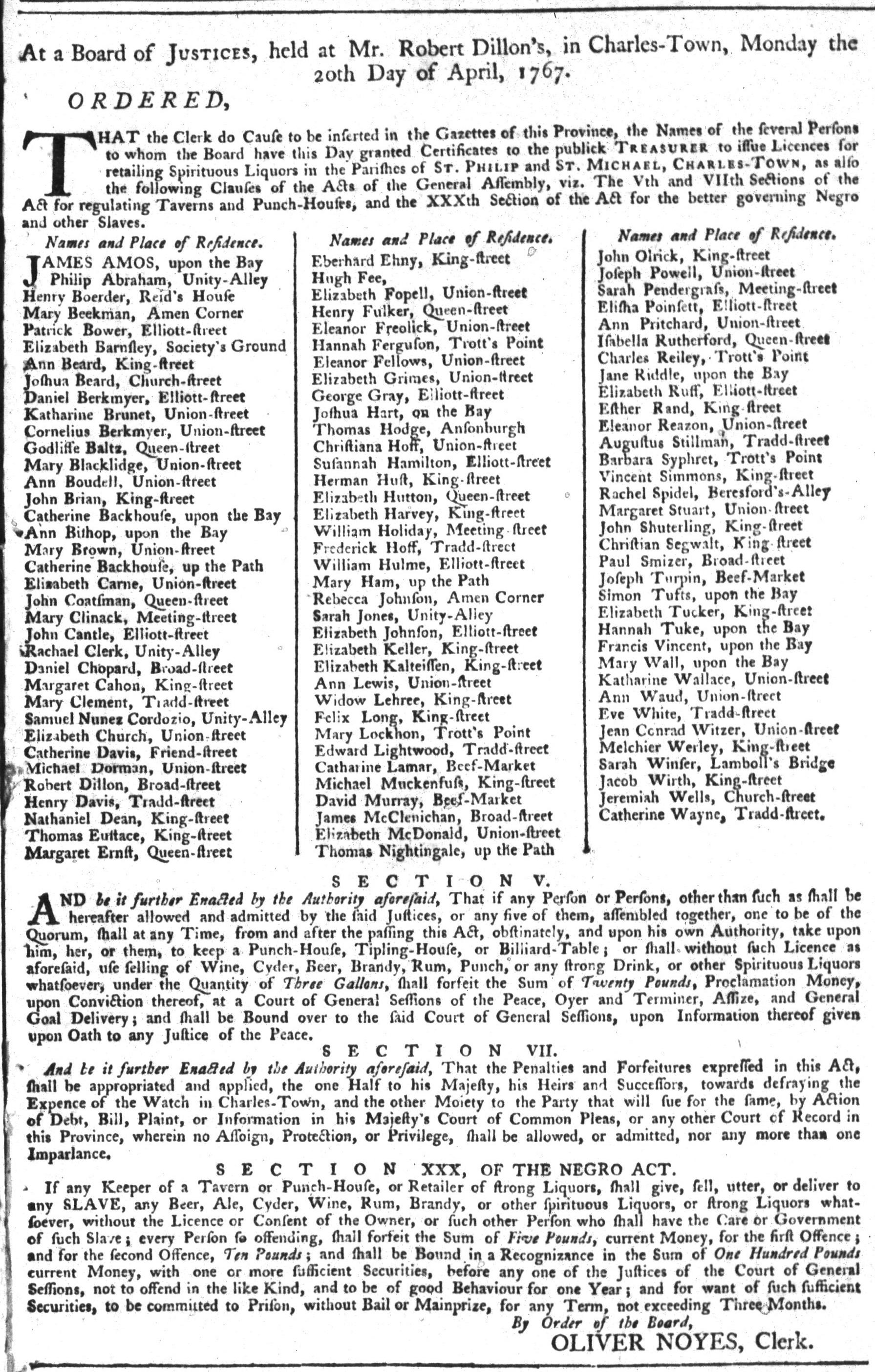 Apr 28 - South-Carolina Gazette and Country Journal Slavery 1