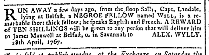 Apr 29 - Georgia Gazette Slavery 2
