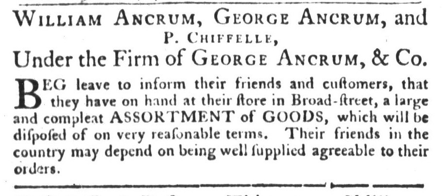 Apr 7 - 4:7:1767 Ancrum South Carolina Gazette and Country Journal Page 4