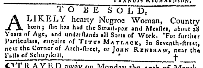 Apr 9 - Pennsylvania Gazette Slavery 2