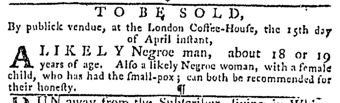 Apr 9 - Pennsylvania Gazette Slavery 3