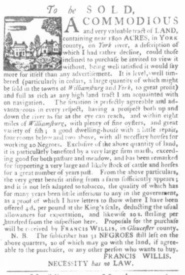 Apr 9 - Virginia Gazette Slavery 2