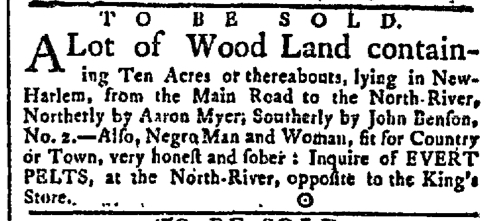 Jun 1 - New-York Gazette Slavery 1