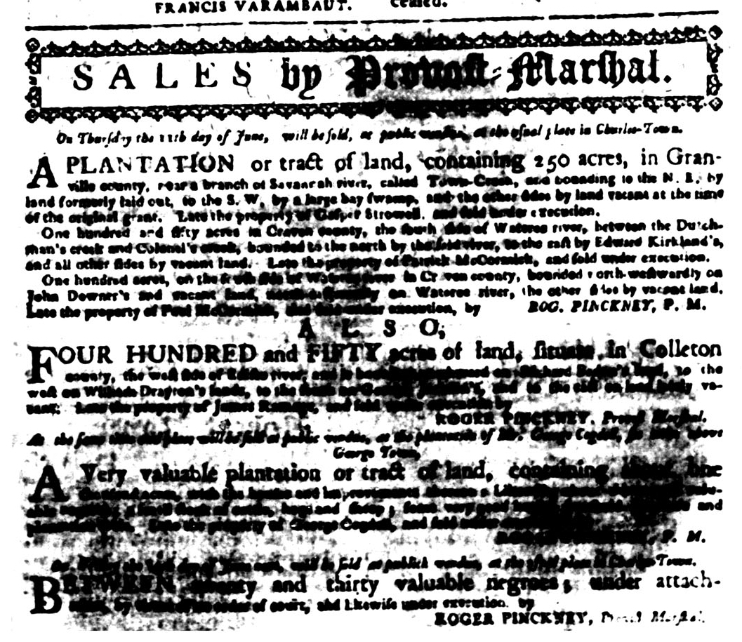 Jun 1 - South Carolina Gazette Slavery 1